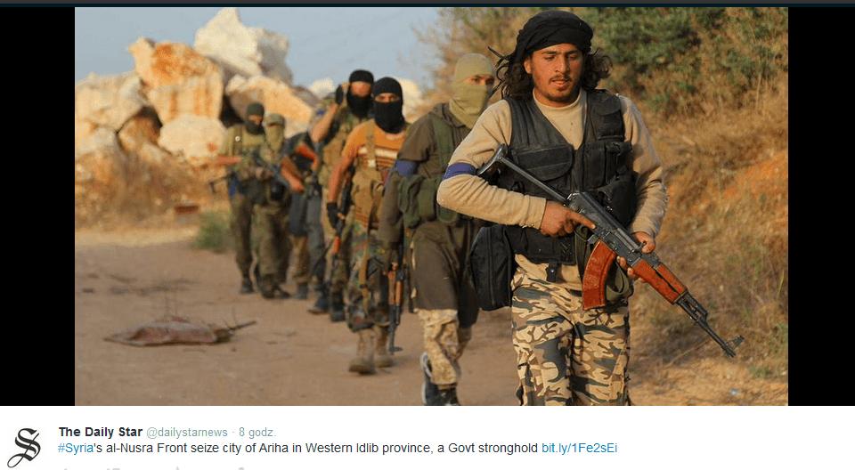 Syria: kolejne zwycięstwo dżihadystów. Następnym celem stolica?