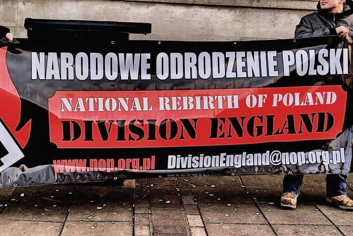 Polacy na nazistowskiej demonstracji w Londynie