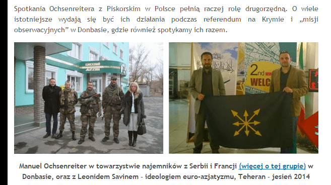 Zrzut ekranu ze strony portalu Stop Nacjonalizmowi.