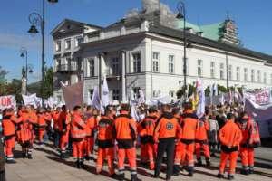 Protest pracowników służby zdrowia w Warszawie / fot. Patryk Kosela