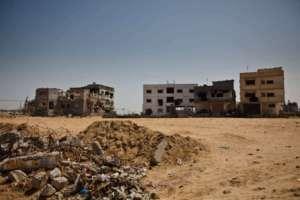 Strefa Gazy - budynki zniszczone w wyniku bombardowań w kwietniu 2009 roku / wikipedia commons