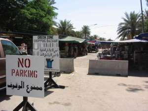 Targowisko dla uprzywilejowanych - mieszkańców Green Zone w Bagdadzie / wikipedia commons