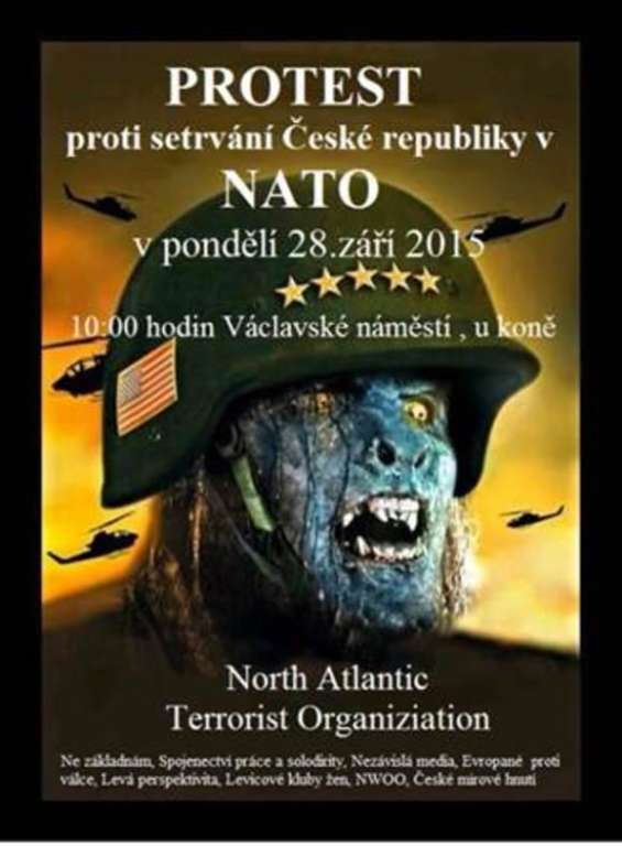 Czechy: NATO = Neonazi American Terrorist Organization