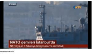 Kadr z reoprtażu NTV (turecka telewizja), na któym widać postać rosyjskiego żołnierza z wyrzutnią rakiet gotową do wystrzału.