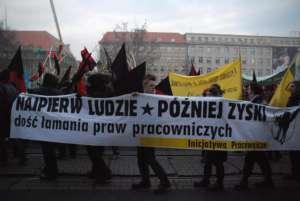 Jeden z protestów Inicjatywy Pracowniczej, w Poznaniu, fot. wikimedia commons