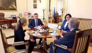 Spotkanie PAD z przewodniczącym komisji weneckiej w Pałacu Prezydenckim. fot. Twitter.com/ Kancelaria Prezydenta