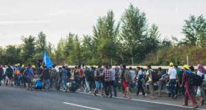 Uchodźcy na Węgrzech fot. Wikimedia Commons