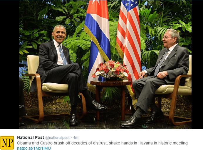 Obama z wizytą u Castro. Trump oczywiście przeciw