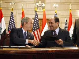 George W. Bush i Nuri al-Maliki - niedoszli architekci demokratycznego Iraku / fot. Wikimedia Commons