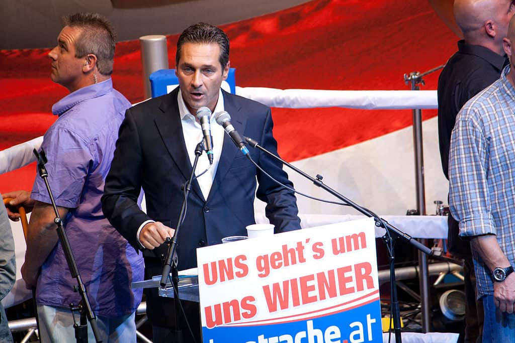 Heinz-Christian Strache z Partii Wolności, fot. wikimedia commons