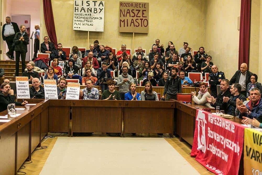Społeczna Rada Miasta, na zdjęciu widać przedstawicieli Razem, WSL, RSS/fot. Michał Radwański