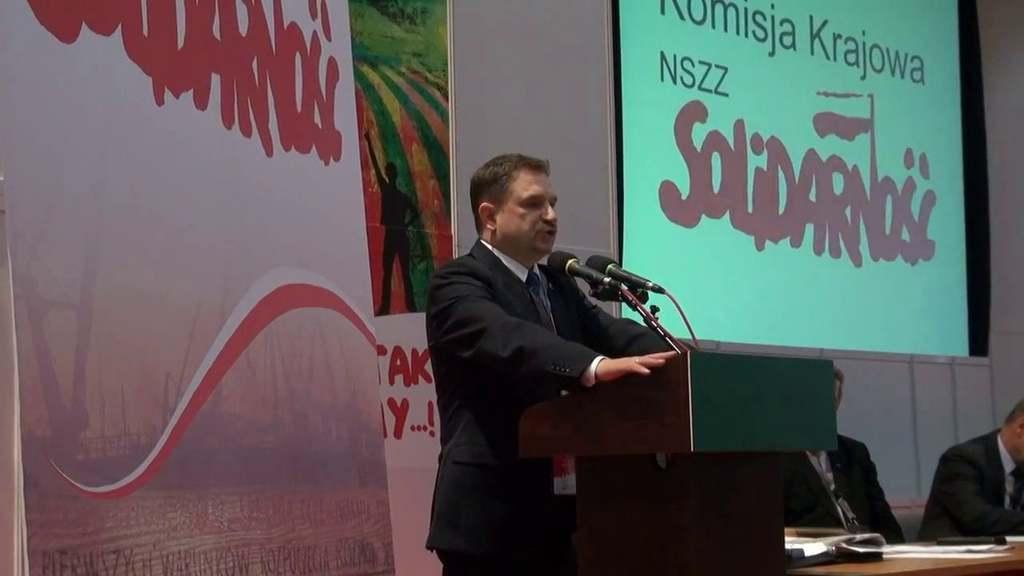 """""""Solidarność"""" pod Piptrem Dudą, źródło vimeo.com"""