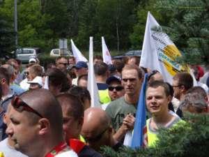 Związkowcy z Bełchatowa walczą o interes swoich pracowników/ facebook.com/mzz.odkrywka