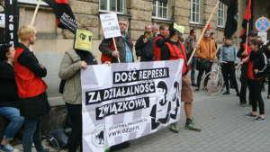 Protest pracowników Amazona skupionych w Inicjatywie Pracowniczej / fot. Piotr Nowak