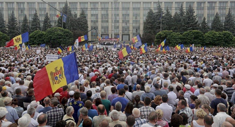 Protesty w Mołdawii w styczniu 2016 r. / fot. Sputnik News