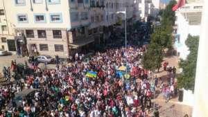 Protesty ogarnęły wszystkie większe miasta Maroka / fot. Twitter, Thomas van Linge