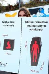 Martyna Kozłowska na warszawskim Dniu Bez Futra 2016