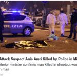 Zamachowiec z Berlina zastrzelony w Mediolanie