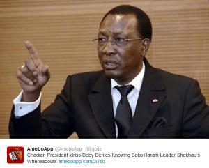 Idrissa Deby, prezydent Czadu/ twitter.com@AmeboApp