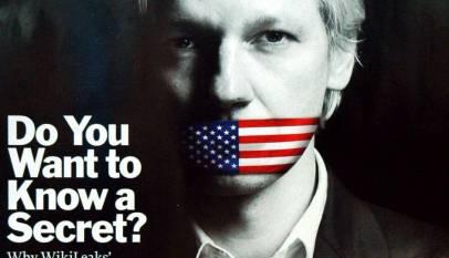 "Assange na okładce ""Time"""