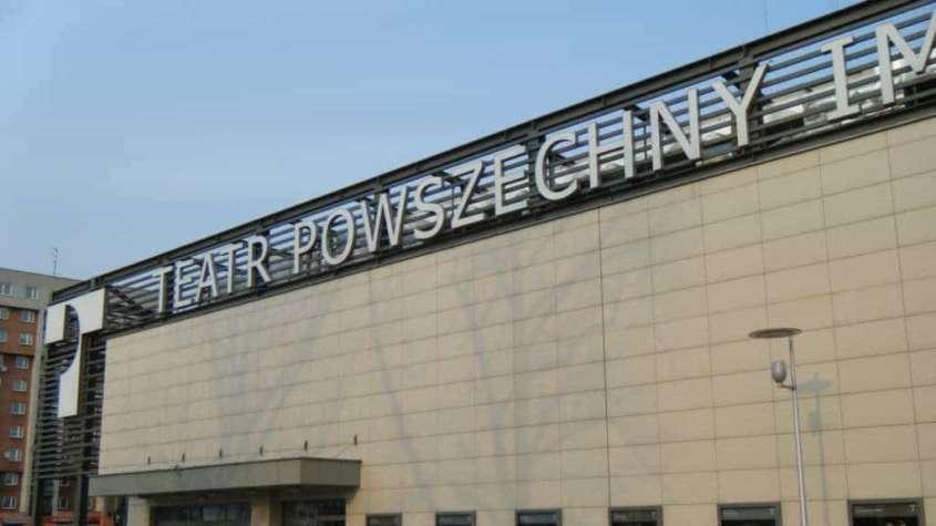 Wejście gł. do Teatru Powszechnego w Warszawie, źródło: Wikimedia