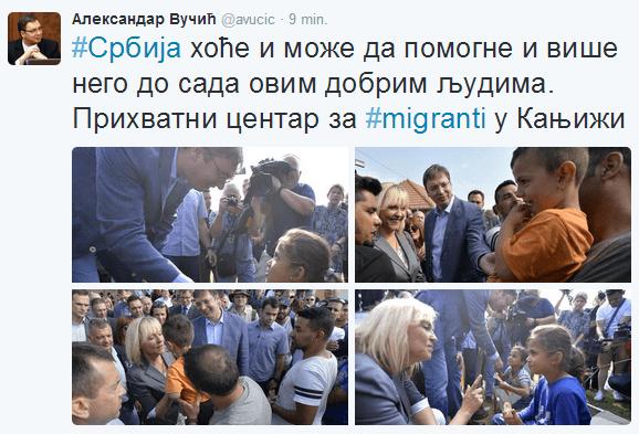 """Tweet serbskiego premiera: """"Serbia chce i może pomóc"""
