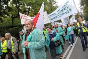 Protest inspektorów weterynaryjnych w Warszawie / twitter.com