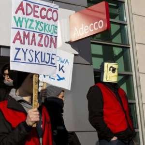 Protest pracowników Amazona przeciwko zatrudnianiu pracowników przez agencje pracy tymczasowej / facebook.com/Pracownicy-Amazona