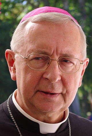 Zdjęcie portetowe bp. Gądeckiego.