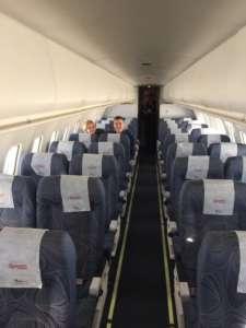 Dwoje pasażerów na pokładzie samolotu Czech Airlines / facebook.com