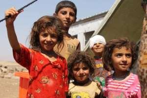 Iraccy uchodźcy w obozie w Newroz / flickr.com