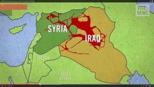 Czerwony kolor symbolizuje obszar, na którym rządzą dżihadyści z IS /fot. flickr.com/quapan