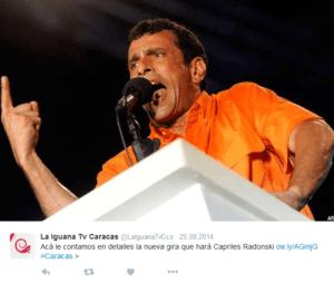 Capries Radonski - przywódca proamerykańskiej opozycji / twitter.com