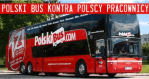 Pracownicy Polskiego Busa walczą o prawo do zrzeszania się w związkach zawodowych oraz lepsze warunki pracy / dzialaj.akcjademokracja.pl