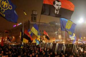 Marsz ku czci Stepana Bandery, Kijów, styczeń 2015 r. / fot. Wikimedia Commons