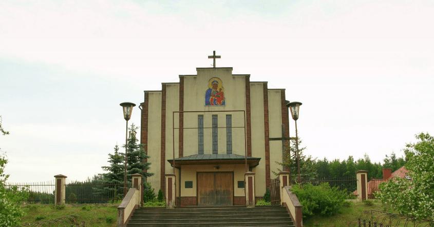 Kościół w Gwizdowie (pokarpackie) / Żródło: Google.Maps