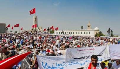 Manifestacje w Tunisie, 2011