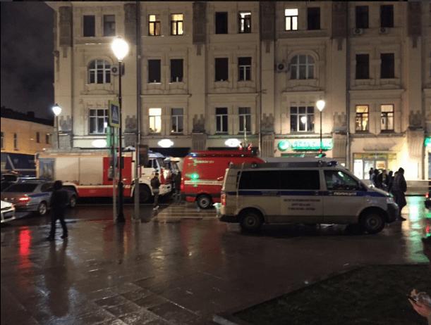 Scena po wybuchu w Moskwie 7 grudnia 2015 / Źródło: Twitter