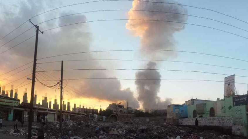 Sana, stolica Jemenu po jednym z nalotów koalicji sunnickiej / wikipedia commons