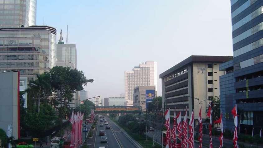 Centrum Dżakarty. Tutaj doszło do zamachu / fot. Wikimedia Commons