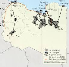 Pola naftowe w Libii. Większość wpadła już w ręce ISIS / Wikimedia Commons