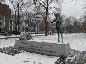 Pomnik Wielkiego Głodu w Irlandii, Cambridge, fot. wikimedia commons