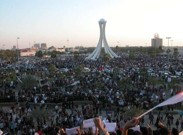 """Protesty szyitów w Bahrajnie podczas """"Arabskiej Wiosny"""" nie przyniosły poprawy ich sytuacji / fot. Wikimedia Commons"""
