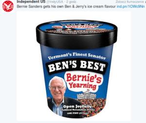 Lody kampanijne Berniego Sandersa robią w USA furorę / twitter.com