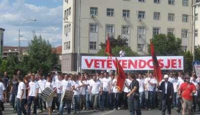 Manifestacja albańskich nacjonalistów / fot. Wikimedia Commons
