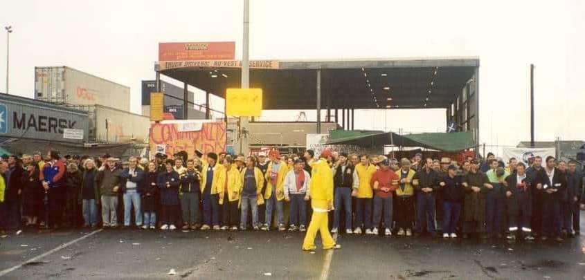 Pikieta pracowników doków w Melbourne