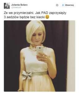 Jolanta Solarz, fot. twitter.com