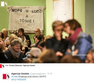 Strajk w łódźkim MOPSie trwa już trzeci tydzień / twitter.com