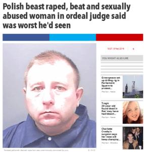 "36-letnia ""Polska Bestia"" / zrzut ekranu z thesun.co.uk"