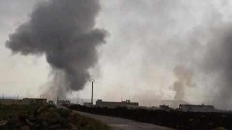 Efekty tureckiego bombardowania / fot. Twitter/kocgiri
